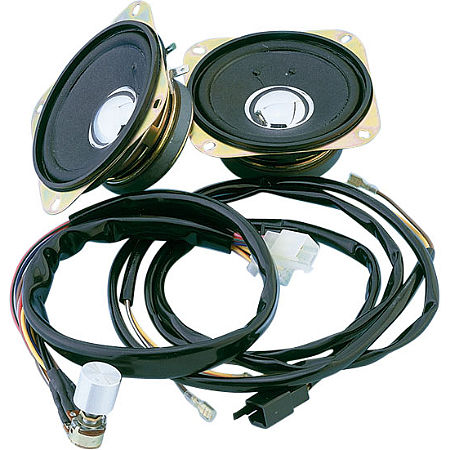 Show Chrome Rear Speaker Kit With Harness - Main