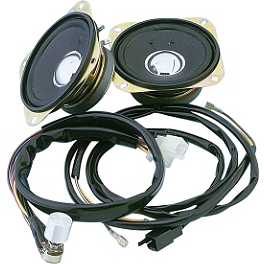 Show Chrome Rear Speaker Kit With Harness - Show Chrome Rear Speaker Grilles
