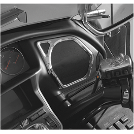 Show Chrome Speaker Accents - Front - Show Chrome Windshield Garnish - Chrome