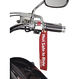 Show Chrome Safety Tag - Deemeed Six Shooter Motorcycle Disc Lock