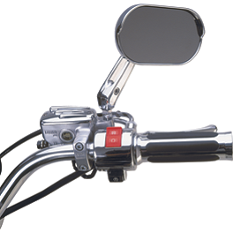 Show Chrome Brake Side Switch Box Housing - 2002 Honda VTX1800S Show Chrome Driving Light Kit - Elliptical