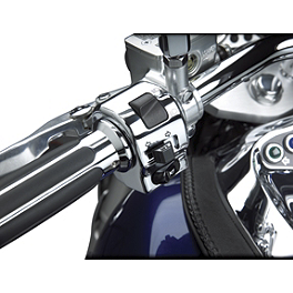Show Chrome Brake Side Switch Box Housing - 2010 Kawasaki Vulcan 2000 Classic LT - VN2000J Kuryakyn Handlebar Control Covers
