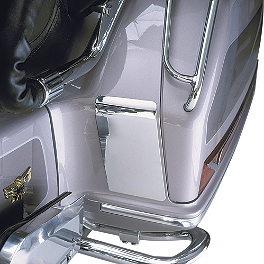 Show Chrome Saddlebag Kickplate Set - 1992 Honda Gold Wing Interstate 1500 - GL1500I Show Chrome Slider Brake Pedal - Flame