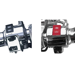 Show Chrome Switch Box Housing - Pair - 2000 Yamaha Road Star 1600 - XV1600A Kuryakyn Handlebar Control Covers