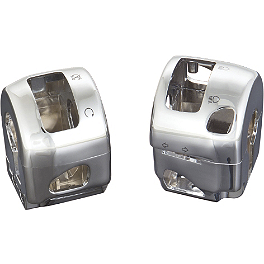 Show Chrome Switch Box Housing - Pair - 2007 Kawasaki Vulcan 1600 Classic - VN1600A Kuryakyn Handlebar Control Covers