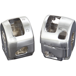 Show Chrome Switch Box Housing - Pair - Show Chrome Clutch Side Switch Box Housing