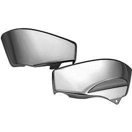Show Chrome Side Covers - Chrome - 2009 Yamaha V Star 650 Classic - XVS65A Show Chrome Slider Brake Pedal - Flame