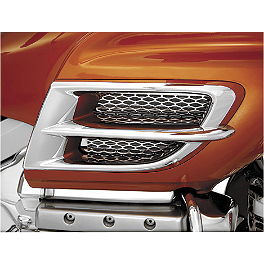 Show Chrome Side Fairing Accent Grille - Chrome - Kuryakyn Shark Gills With Fairing Vent Trim