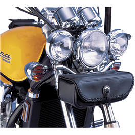 Show Chrome Spotlight Visors - 1986 Honda Shadow 1100 - VT1100C Show Chrome Slider Brake Pedal - Flame