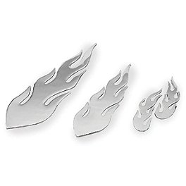 Show Chrome Stick On Flames - 2004 Honda VTX1800S2 Show Chrome Helmet Holder Pin - 10mm
