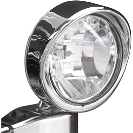 "Show Chrome 3-1/2"" Halogen Spot Light - 2008 Kawasaki Vulcan 2000 Classic - VN2000H Show Chrome Vantage Rear Highway Boards"