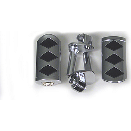 Show Chrome Front Slider Peg System - Diamond - Show Chrome Peg Set With Driver Anti-Rotation Block - Teardrop