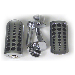 Show Chrome Slider Peg System - Dot - 2000 Honda Magna 750 - VF750C Show Chrome Slider Brake Pedal - Flame