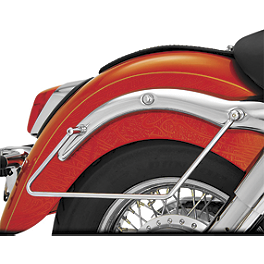 Show Chrome Saddlebag Supports Chrome - 2003 Honda Shadow ACE Deluxe 750 - VT750CDA Cobra Saddlebag Supports - Chrome