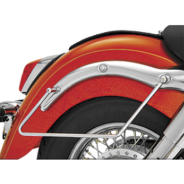 Show Chrome Saddlebag Supports Chrome - 2003 Honda Shadow Spirit 750 - VT750DC Cobra Saddlebag Supports - Chrome