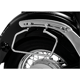 Show Chrome Adjustable Saddlebag Supports Chrome - 2007 Yamaha V Star 650 Custom - XVS65 Yamaha Star Accessories Classic Deluxe Saddlebags - Plain