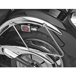 Show Chrome Saddlebag Supports Chrome - 2009 Kawasaki Vulcan 2000 - VN2000A Cobra Saddlebag Supports - Chrome