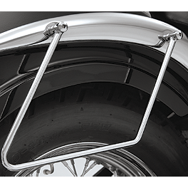 Show Chrome Saddlebag Supports Chrome - 2006 Honda Shadow Sabre 1100 - VT1100C2 MC Enterprises Saddlebag Guards