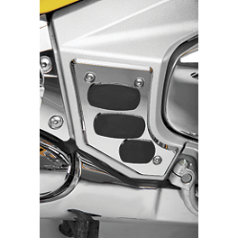 Show Chrome Swingarm Scuff Plate - Chrome/Rubber - Honda Genuine Accessories Instrument Accent (Wood-Type)
