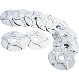Show Chrome Star Washers - Show Chrome Single Master Cylinder Cover - Smooth