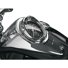 Show Chrome Speedometer Visor - 2011 Honda Shadow RS 750 - VT750RS Show Chrome Mini Driving Light Kit - Elliptical