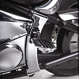 Show Chrome Swingarm Covers - 2007 Kawasaki Vulcan 900 Custom - VN900C Show Chrome Vantage Rear Highway Boards