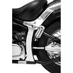 Show Chrome Vertical Swingarm Covers -  Cruiser Suspension