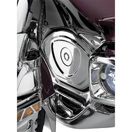 Show Chrome Timing Chain Cover - 2007 Honda Gold Wing Airbag - GL1800 Show Chrome Handlebar Clamp Plugs