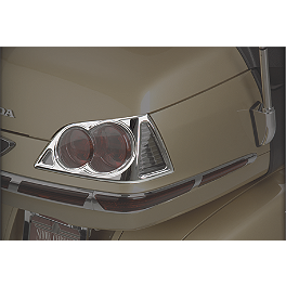 Show Chrome Trunk Lens Grilles - 2010 Honda Gold Wing 1800 Premium Audio - GL1800 Show Chrome Tour Rack Bag
