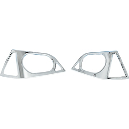 Show Chrome Matching Trunk Lens Grilles - 2006 Honda Gold Wing Airbag - GL1800 Show Chrome Upper Wind Deflector - Bright Red