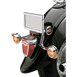 Show Chrome Tail Light Visor - 2008 Yamaha V Star 650 Midnight Custom - XVS65M Show Chrome Slider Brake Pedal - Flame