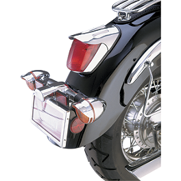 Show Chrome Tail Light Visor - Teardrop - 2007 Honda Shadow Sabre 1100 - VT1100C2 Show Chrome Slider Brake Pedal - Flame