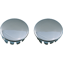 Show Chrome Trim Plugs For Anti-Rotation Peg Mounts - Show Chrome Domed Fork Cap Covers