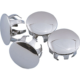 Show Chrome Trim Plugs For Tour Front Disc Cover - 1991 Honda Gold Wing Interstate 1500 - GL1500I Show Chrome 500 Series Contoured Wind Deflectors - Clear