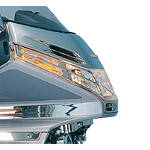 Show Chrome Front Turn Signal Grilles - Cruiser Replacement Light Lenses