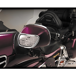 Show Chrome Turn Signal Mirror Lights - Clear - 2005 Honda Gold Wing 1800 - GL1800 Show Chrome LED Front Fender Medallion