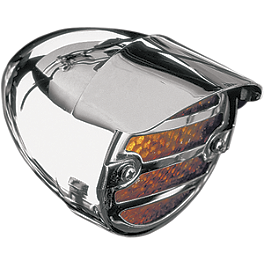 Show Chrome Screw Mount Turn Signal Visors - 2003 Honda Shadow Spirit 1100 - VT1100C Show Chrome Raised Teardrop Master Cylinder Cover