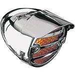 Show Chrome Screw Mount Turn Signal Visors - Show Chrome Cruiser Products