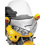 Show Chrome Tall Windshield With Vent - Clear - Motorcycle Windshields & Accessories