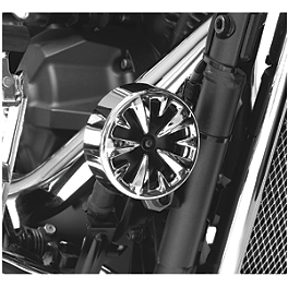 Show Chrome Vantage Horn Cover - 2007 Kawasaki Vulcan 900 Custom - VN900C Kuryakyn Rear Caliper Cover