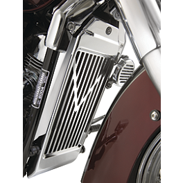 Show Chrome V-Style Radiator Grille - Chrome - Show Chrome Regulator Cover