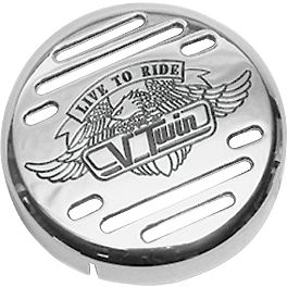 Show Chrome V-Twin Horn Cover - Show Chrome Air Cleaner Cover - Free Spirit