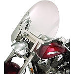 Show Chrome Classic Windshield For Oversized Forks - Motorcycle Windshields & Accessories