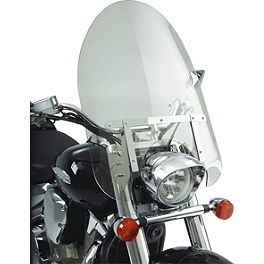 Show Chrome Classic Windshield For Straight Forks - Show Chrome E-Z Mount Cruiser Windshield For 1