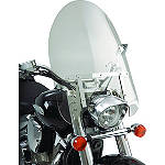 Show Chrome Classic Windshield For Straight Forks - Motorcycle Windshields & Accessories