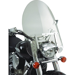 Show Chrome Classic Windshield For Tapered Forks - 2007 Yamaha V Star 1300 - XVS13 Show Chrome Driving Light Kit - Contour