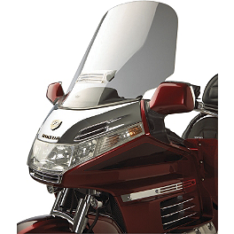 Show Chrome Custom Tour Windshield With Vent - Show Chrome 500 Series Contoured Wind Deflectors - Smoke