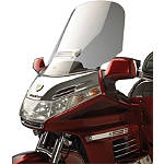 Show Chrome Custom Tour Windshield With Vent - Motorcycle Windshields & Accessories
