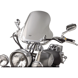 "Show Chrome E-Z Mount Cruiser Windshield For 1"" Bars - Show Chrome Classic Windshield For Tapered Forks"