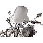 "Show Chrome E-Z Mount Cruiser Windshield For 1"" Bars - Kawasaki Vulcan 500 LTD - EN500C Cruiser Wind Shield and Accessories"